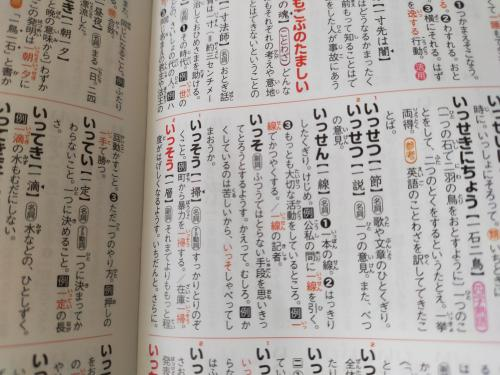 国語辞典の写真